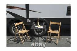 Tire Table TGMESH Vehicle Tire Mounted Steel Camping Travel Tailgating Outdoor