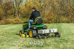 Tow Behind Lawn Aerator 40 in Universal Hitch Flat Free Tire Tractor Heavy Duty