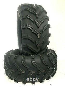 Two New K9 Mud ATV UTV Tires 25x8-12 25X8X12 6 Ply Rated Heavy Duty Tubeless