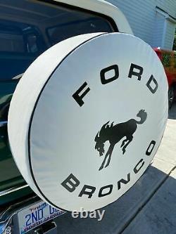 USA SpareCover Hybrid Series FORD BRONCO 33 WHITE Heavy Duty Vinyl Tire Cover