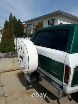 USA SpareCover Hybrid Series FORD BRONCO 35 WHITE Heavy Duty Vinyl Tire Cover