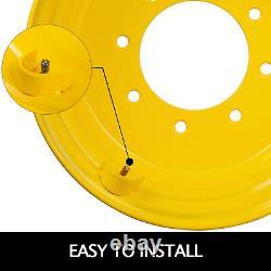 VEVOR Yellow 8 Bolt Hole Heavy Duty Rim/Wheel for 10-16.5 Skid Steer Tires