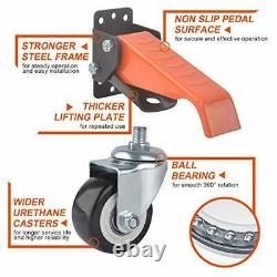 Workbench Casters Kit 300KG Capacity, 2.5 Heavy Duty Retractable Casters
